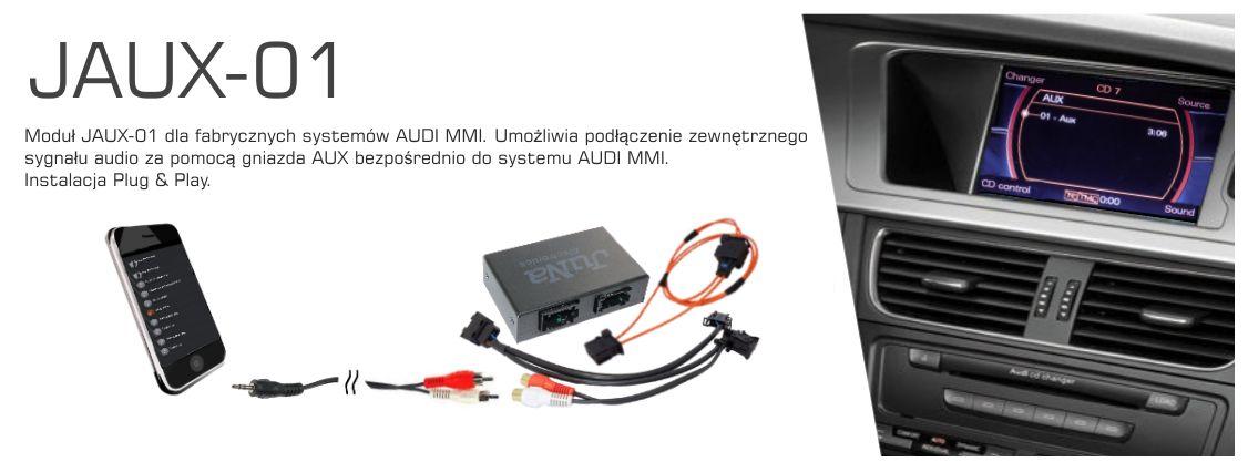 Interfejs AUX IN do systemów AUDI MMI 2G lub MMI 3G